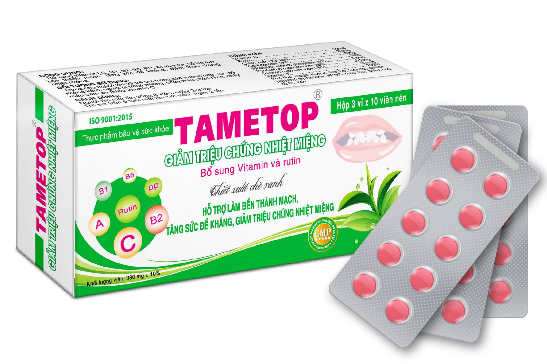 Nhiệt miệng Tametop dạng viên