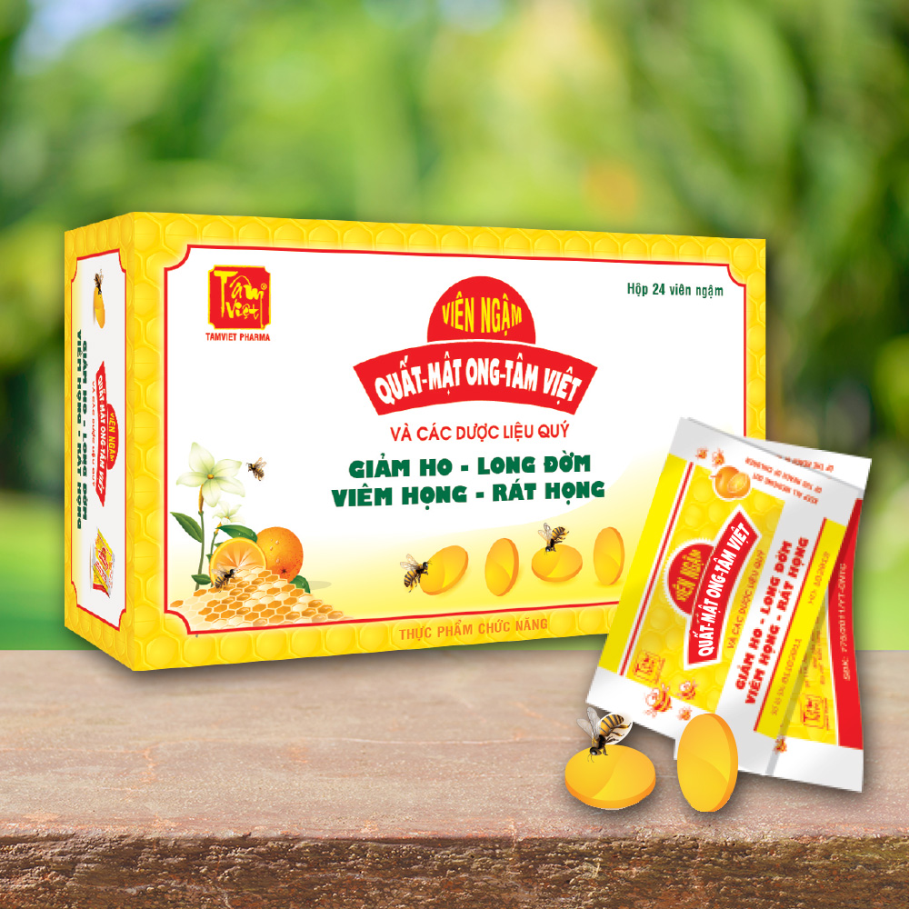 Viên ngậm ho quất mật ong Tâm Việt (viên strepsil)